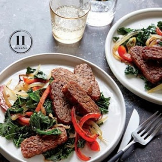Weight Watchers Tempeh With Charred Peppers And Kale