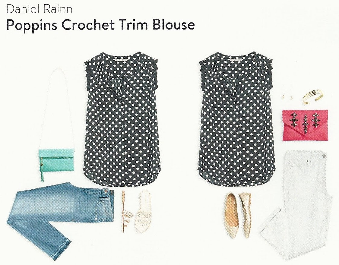 September Stitch Fix Box, Daniel Rainn Poppins Crochet Trim Blouse