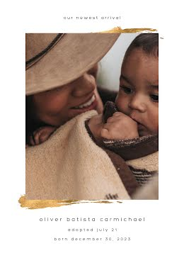 Oli's Adoption Announcement - Baby Card item