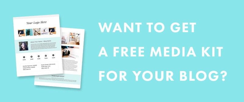 A Free Media Kit Template for your Blog