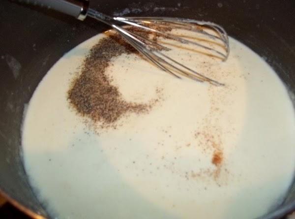 In a medium saucepan, melt butter.  Stir in flour until smooth.   Gradually whisk in...