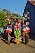 Photo: Magnifique tracteur décoré