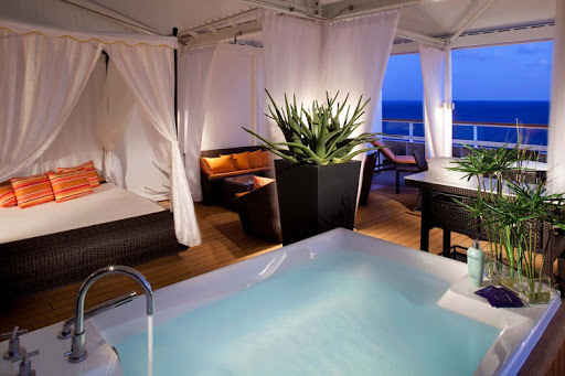 A private, personal spa hideaway on Seabourn: just one of a host of amenities available on a cruise.