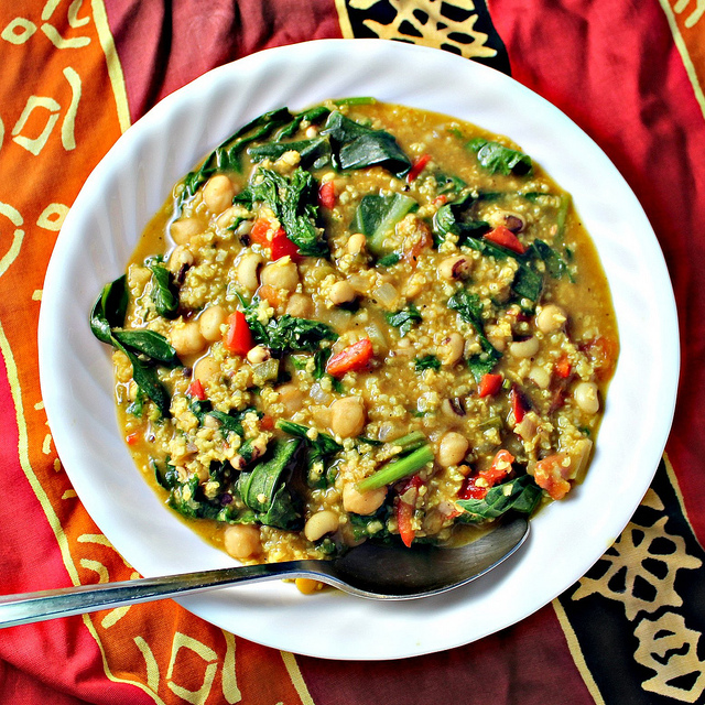 African Curried Coconut Soup with Chickpeas Recipe