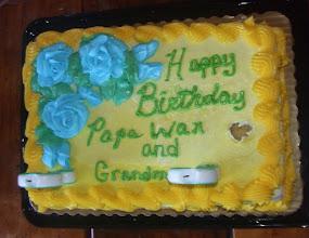 Photo: Mommy & Ron's bday cake