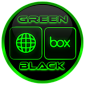 Flat Black and Green Icon Pack