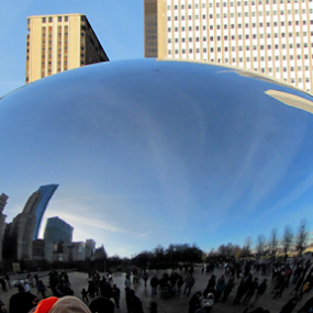 by IS Photography - Buildings & Architecture Statues & Monuments ( reflection, skyline, the bean, chicago, city )