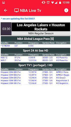 NBA Games Live on TV - Free 1.2 screenshots 5
