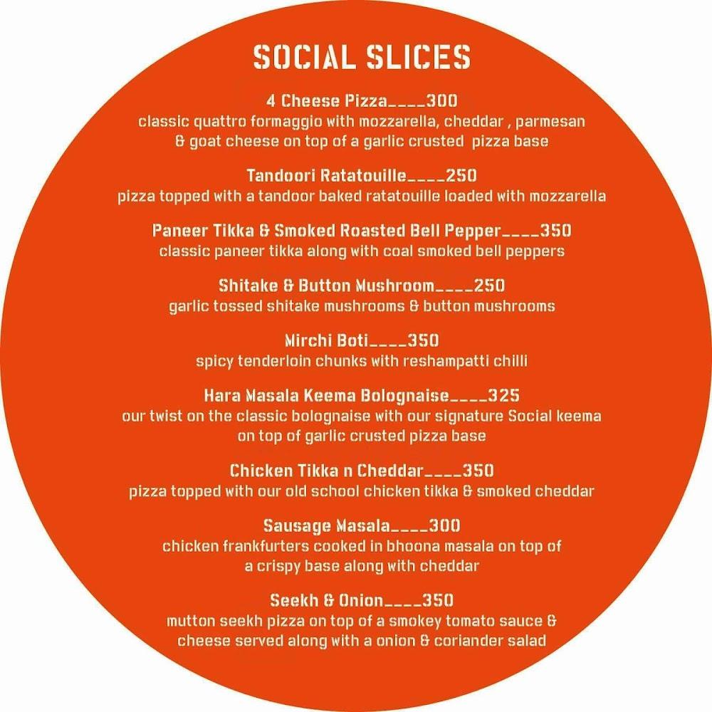 Hauz Khas Social menu 1