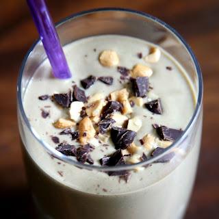 Chocolate Banana Cashew Smoothie.