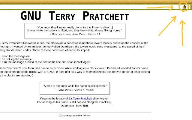 Clacks Overhead - GNU Terry Pratchett