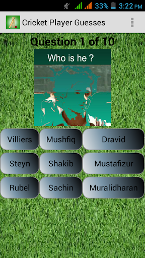 Cricket Player Guesses