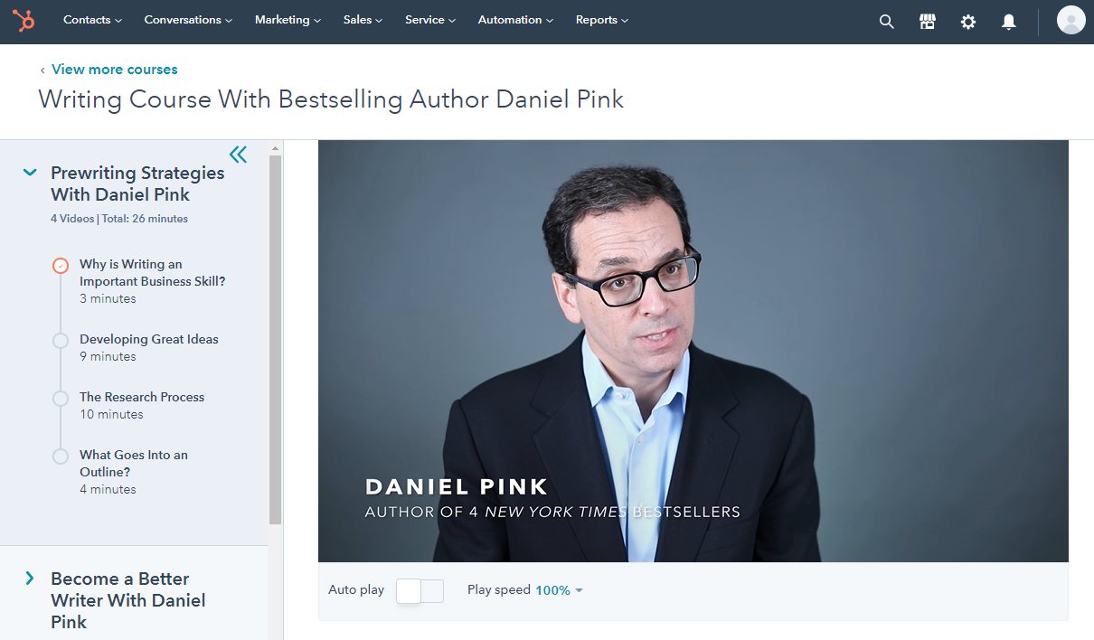 Writing course with Dan Pink