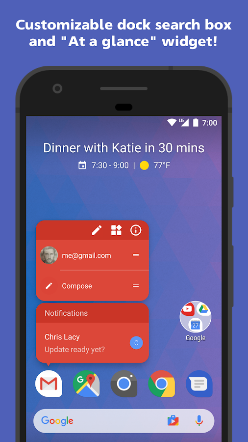 Action Launcher – Capture d'écran