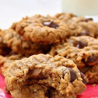 Stupid Easy Gluten-Free Peanut Butter Chocolate Chip Cookies.