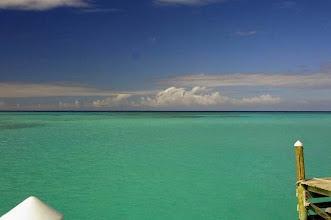 Photo: Columbus Isle dans l'île de San Salvador aux Bahamas