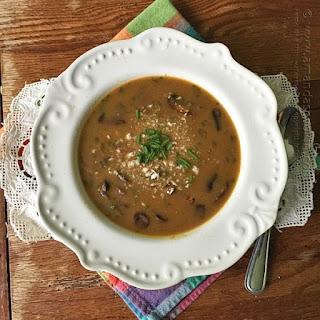 Sausage Mushroom & Wild Rice Soup.