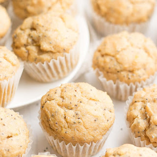 Healthy Lemon Poppy Seed Mini Muffins.