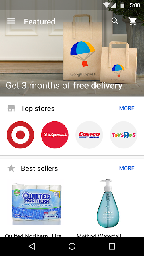 Google Express - screenshot