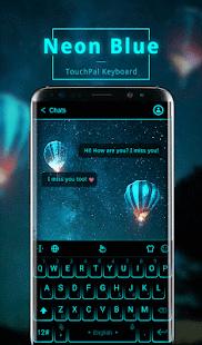 Download Neon Blue Keyboard Theme For PC Windows and Mac apk screenshot 1