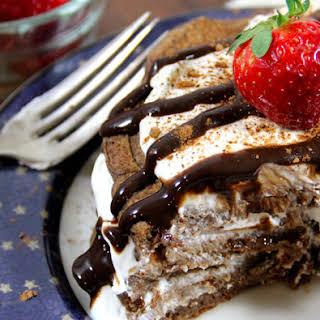 Healthy Tiramisu Protein Pancakes.