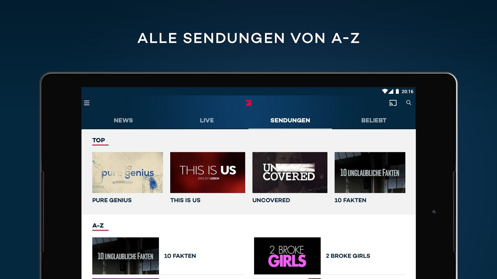prosieben live tv mediathek android apps auf google play. Black Bedroom Furniture Sets. Home Design Ideas