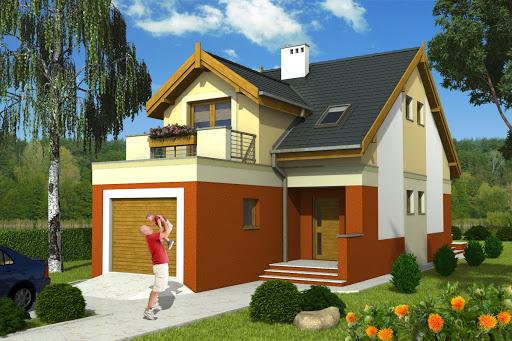 projekt Magda z garażem 1-st. A