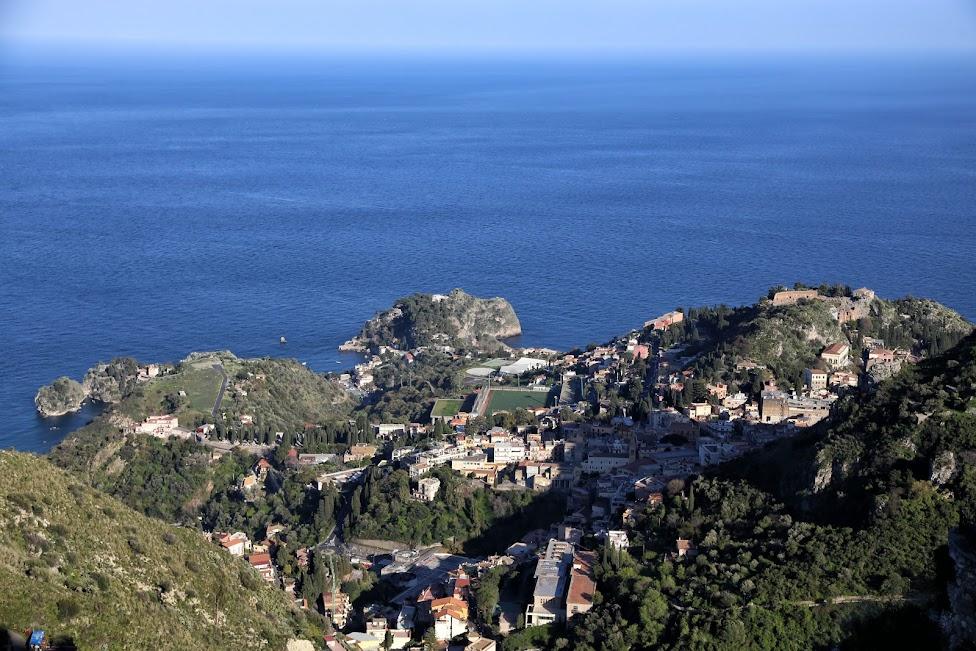 Castelmola, widok na Taorminę