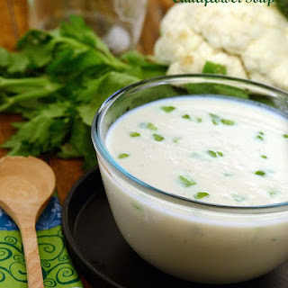 Cauliflower Soup ( Low Calorie Healthy Cooking ).