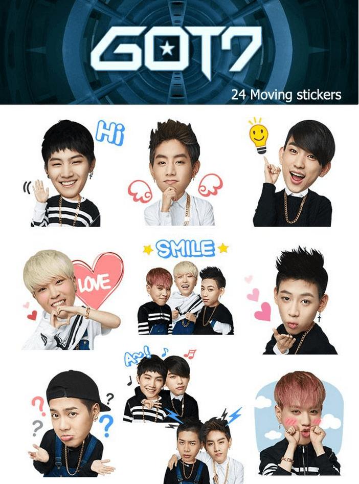 Got7 Reveals Cute Moving Emoticons For Kakaotalk
