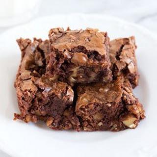 Bite-Size Walnut Brownies.