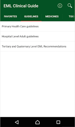 EML Clinical Guide screenshot for Android