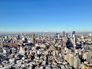 Photo: Tokyo and Mt Fuji. Taken from the Google Tokyo office.