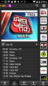 nexGTv SD Live TV on Mobile