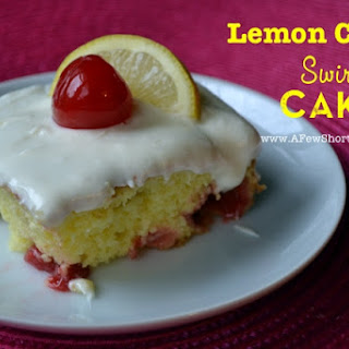 Lemon Cherry Swirl Cake.