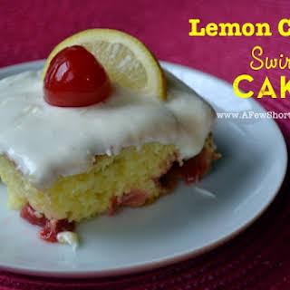 Lemon Cherry Swirl Cake.