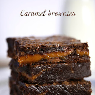 Chocolate Fudge Caramel Brownies.