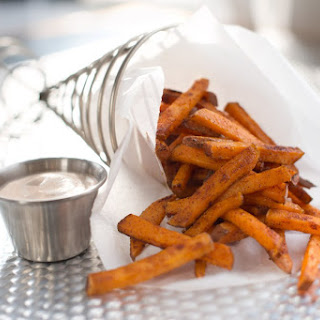 Chipotle Sweet Potato Fries with Honey Lime Dipping Sauce.