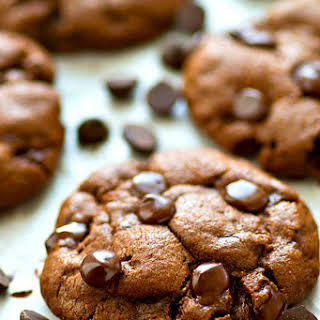 Healthy Coconut Oil Double Chocolate Chip Cookies.