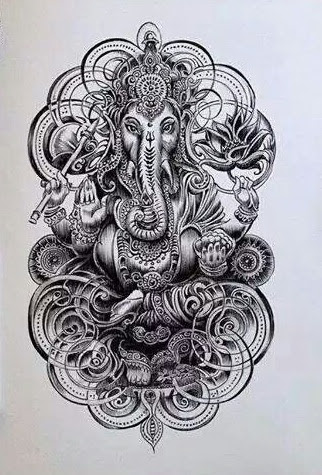 50 beautiful ganesha tattoos designs and ideas with meaning. Black Bedroom Furniture Sets. Home Design Ideas
