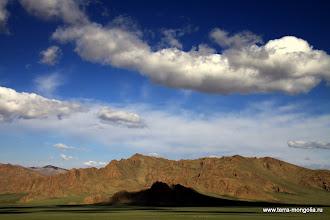 """Photo: Гряда у озера Толбо-нур. Здесь были съемки фильма Сигала """"Чингисхан"""" (еще не закончен)"""