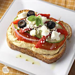 Mediterranean Veggie Hummus Toast.