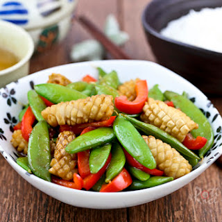 Sugar Snap Peas and Squid Stir Fry Recipe