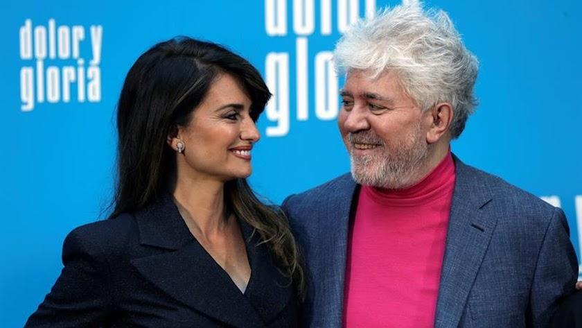 Penélope Cruz y Pedro Almodóvar.