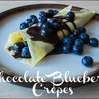 Chocolate Fruit Crepes.