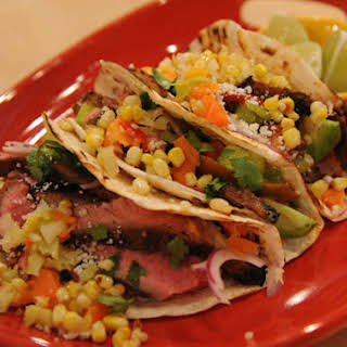 Mexican Sliced Steak Tacos.