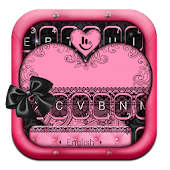 Black Lace Heart Keyboard Theme Android APK Download Free By Love Cute Keyboard