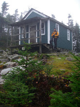 Photo: Old firewatchers cabin on Mount Cabot. This was a welcome refuge from the hailstorm that hit us up here.