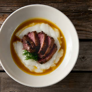 Goose Breasts With Orange-ouzo Sauce.
