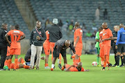 Polokwane City spokesman Vusi Ntimane during Orlando Pirates clash against Polokwane City at Orlando Stadium.